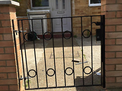 STEEL SECURITY DOOR, GATE. METAL GARDEN SIDE GATE / WROUGHT IRON GATE