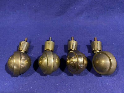 4 Vintage Shepherd Swivel Ball Casters - Brass Finish Never Used