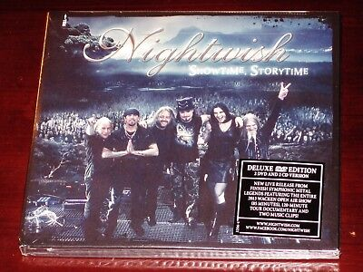 Nightwish  Showtime  Storytime   Deluxe Edition 2 Cd   2 Dvd 4 Disc Set 2013 New