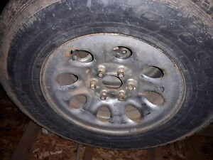 winter tires 267/70/17 and steel rims