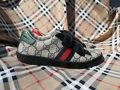 Gucci Kids GG Logo Ace Trainers