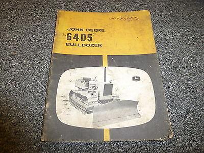 John Deere 6405 Bulldozer Owner Operator Manual Omu40020