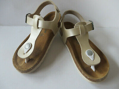 Sommerkind ° hübsche Sandalen Gr. 30 beige Mädchen Schuhe Flip Zehentrenner Flop
