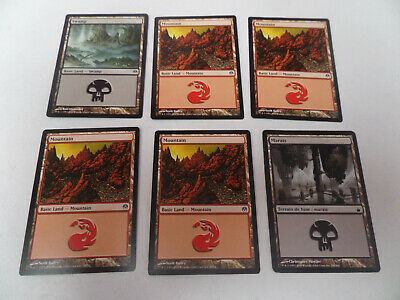 lot 30 cartes Magic The Gathering basic land, swamp, forest, marais, mountain...