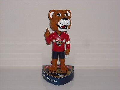 STANLEY C. PANTHER Florida Panthers Mascot Bobble Head Limited Edition - Panther Mascot