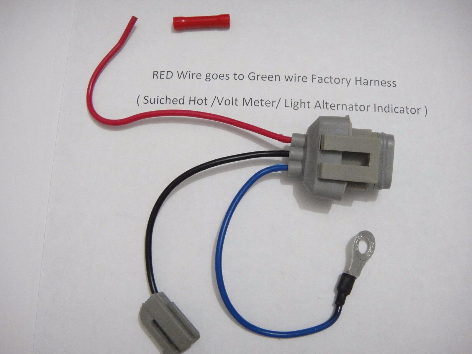Ford Alternator Conversion Harness Wiring Diagram Will Be A Thing 3g Connector 1 Wire Rh Ebayshopkorea Com