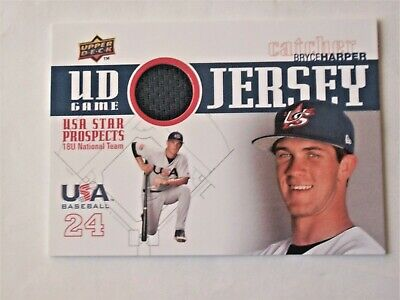 BRYCE HARPER  2009 Upper Deck GAME JERSEY ROOKIE #GJU-8   Nationals