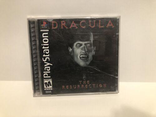 Dracula The Resurrection Complete Playstation PS1 CIB Game Original - $10.00