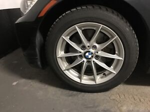 """BMW 2011 16"""" Rims and Dunlop Sport Winter Tires"""
