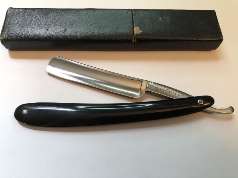 """Vintage 5/8"""" H. Boker & Co. Red Injun 301 RP Straight Razor Shave Ready Germany"""