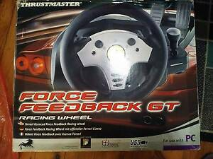 Thrustmaster Force Feedback Steering Wheel Kingsgrove Canterbury Area Preview