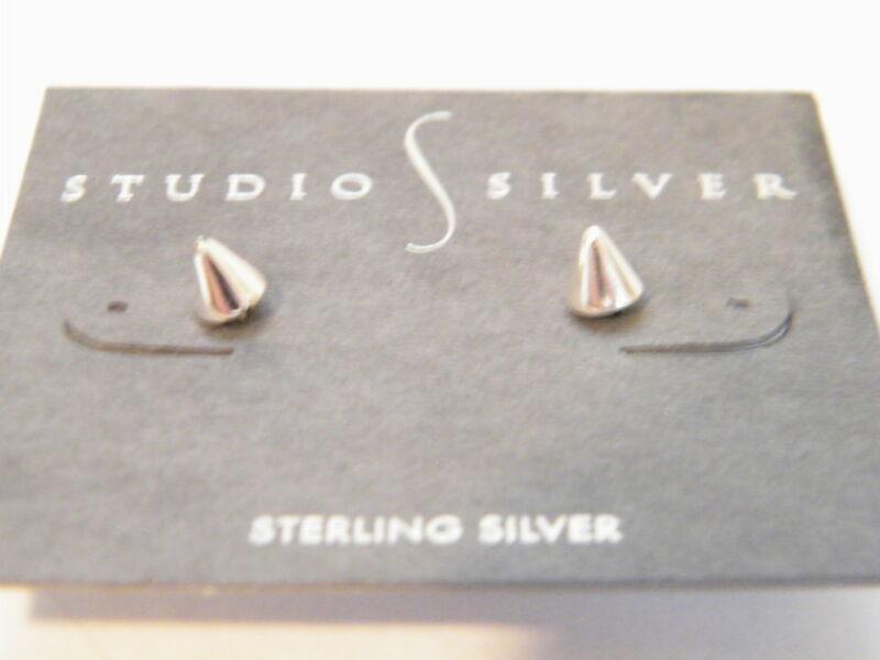 Sterling Silver Spike Stud Earrings by Studio S Silver
