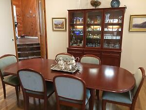 Parker mahogany dining suite & display cabinet Glenhaven The Hills District Preview