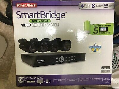 First Alert Smart Bridge 8ch DVR Video Security Surveillance System 4 Cameras for sale  Shipping to Nigeria