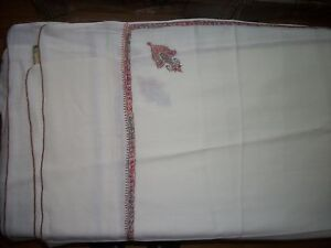 Fine Embroidered Kashmir Indian Shawl