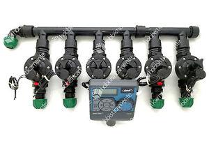 Kit irrigazione programmatore 6 zone orbit elettrovalvola for Centralina per impianto di irrigazione a batteria