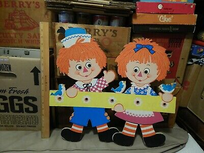 Raggedy Ann & Andy (1972) The Bobbs-Merrill Co. (18''x 19'') Coat_Hat Rack ~ Vtg - Raggedy Ann Hat
