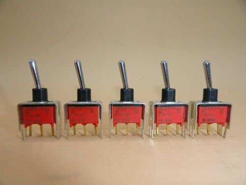 ALCO SPDT TOGGLE SWITCH  0.4VA (LOT OF 5 )