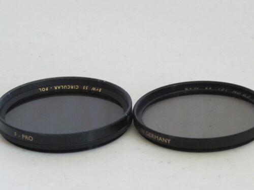 55mm B+W Circular Polarizer + 55mm B+W ND2x Nutral Dentisy Excellent +  #55800cc