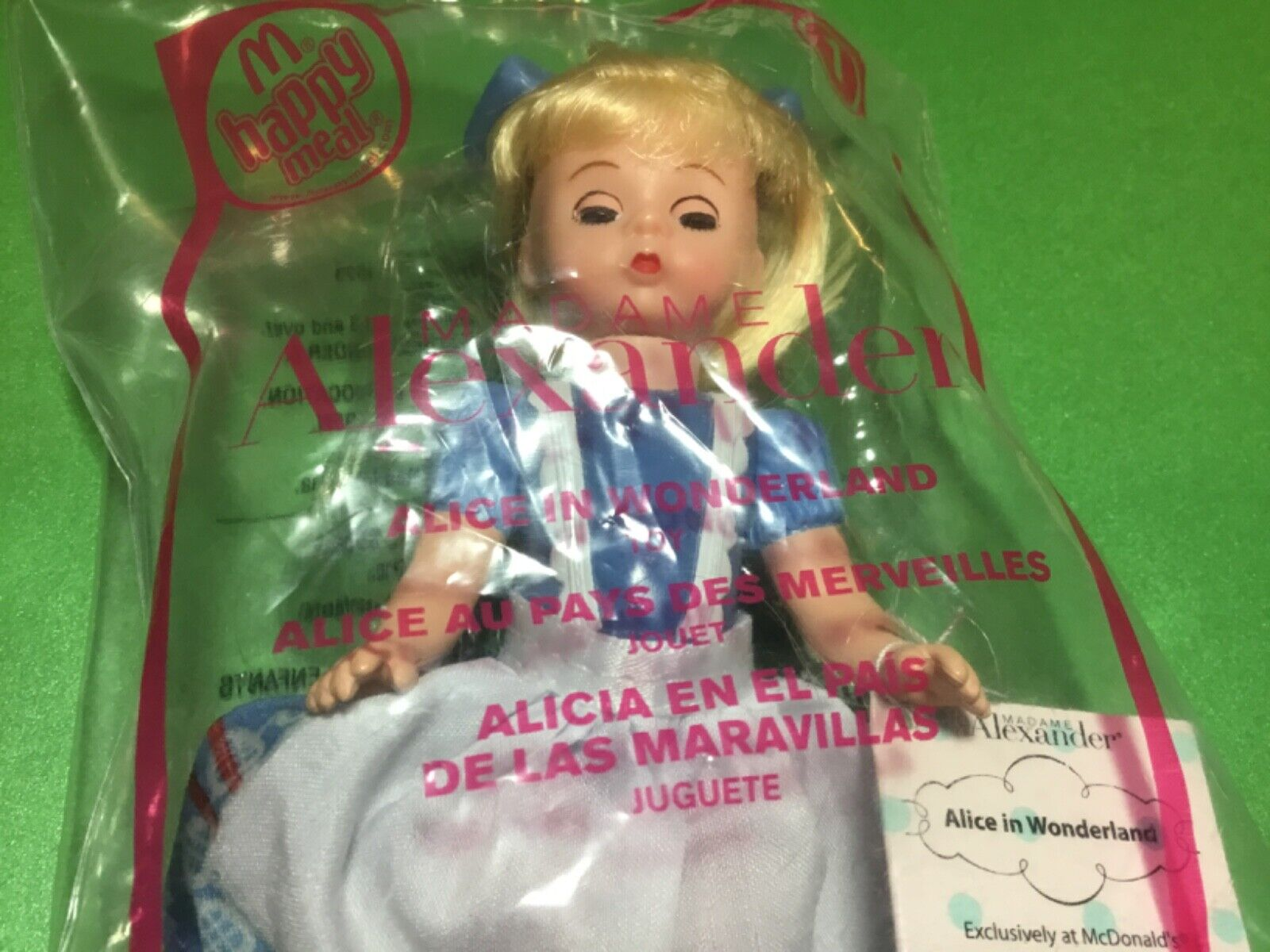 2010 Alice In Wonderland Madame Alexander Storybook Doll McDonalds Happy Meal - $10.00