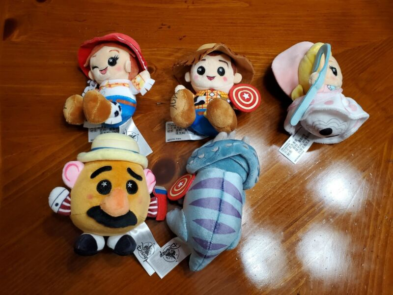 2020 Disney Parks Wishables TOY STORY MANIA Complete Set of 5 Plush Toys NEW