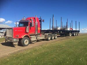 Quad Axle Log Trailer