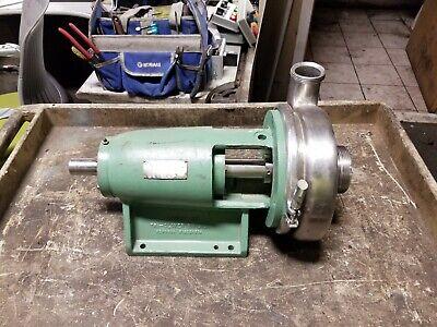 Ladish Tri-clover Stainless Pump 3 X 2 Threaded Shaft 1-38 Dia Sp328td-00a-s