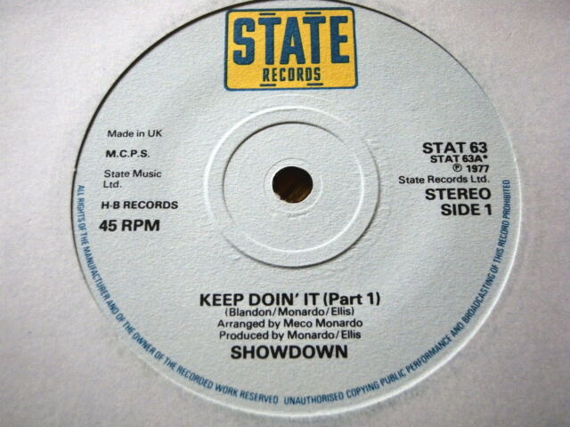 "SHOWDOWN - KEEP DOIN' IT  7"" VINYL"