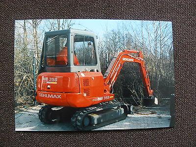 GEHL Minibagger MB 358 - Pressefoto Werk-Foto pressfoto 02.1995 (G0008