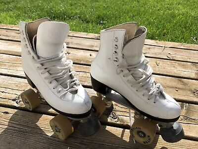 Vintage RIEDELL Red Wing Roller Skates Model Olympian BELAIR RARE Size 4 Womens