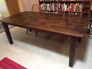 Large 8-Seat Dark Timber Dining Table Glen Iris Boroondara Area Preview