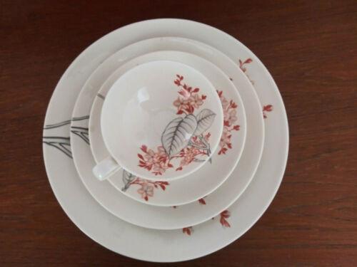 Castleton China Eva Ziesels Mandalay pattern by Ching Chih Yee 4 piece set RARE