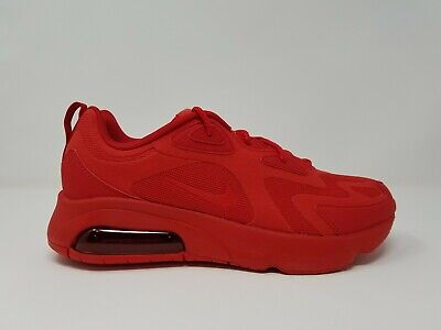 Nike Air Max 200 Men's University All Red CU4878-600 Size 9 & 9.5 Running Shoe