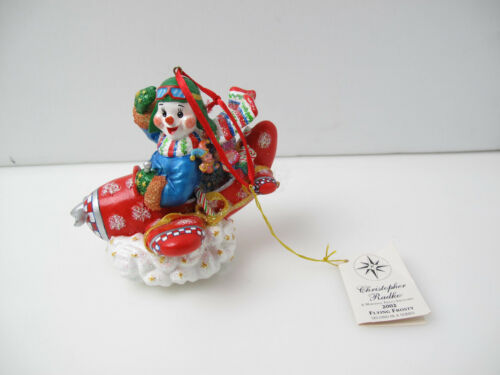 """Christopher Radko Flying Frosty Ornament 5"""" tall Marshall Field Exclusive"""