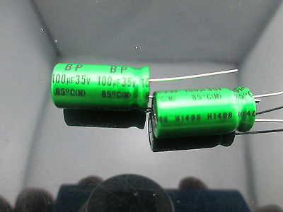 Japan 10pcs Nichicon Muse Es Bp 100uf 35v 100mfd Audio Capacitor Caps