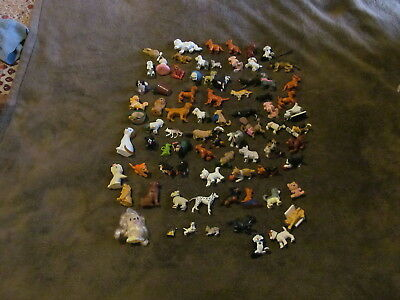 Fabulous Lot Of 78 Adorable PVC Dog & Cat Figures - All Kinds - Must See!!!!