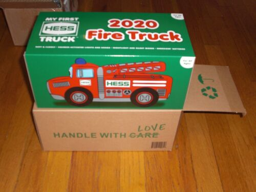 2020 HESS MY FIRST PLUSH FIRE TRUCK ( SOLD OUT ) COMES IN A SEALED BOX