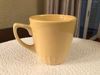 Martha Stewart BASKETWEAVE YELLOW - MUG- Macy's - Martha Stewart Glass Mug