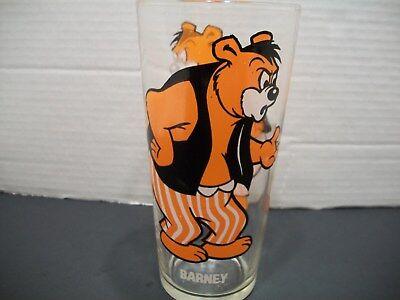 1975 Barney Bear Pepsi Collectors Series Glass Tumbler MGM Studios Animation vtg