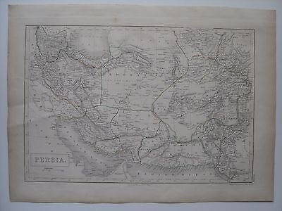 Map of Persia - 43½ cm x 32 cm (17¼