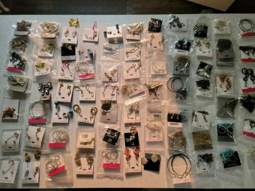 Brand Name Trendy Wholesale Fashion Jewelry Earrings for ReSale Bulk LOT of 100!