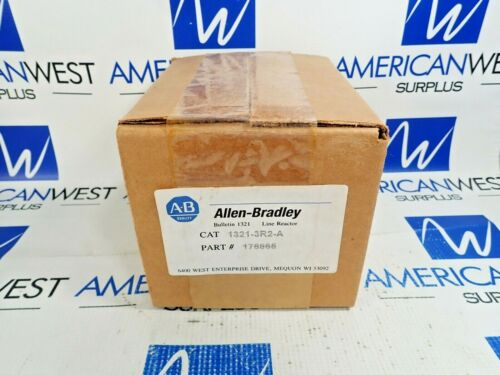 ALLEN BRADLEY 1321-3R2-A LINE REACTOR 2 AMPS 3 PHASE REACTOR 600V NEW