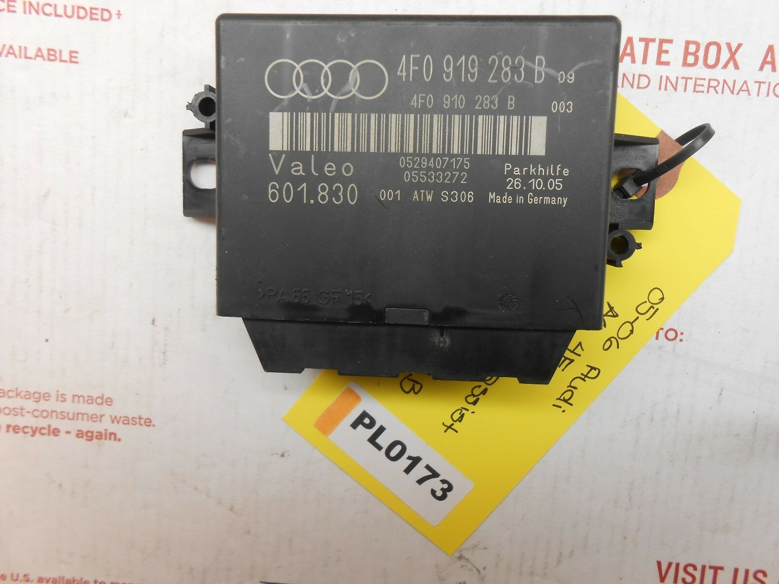Used Audi A6 Controllers For Sale Fuse Box 2006 2005 4f Park Driver Assist Mod 4f0919283b Pl0173
