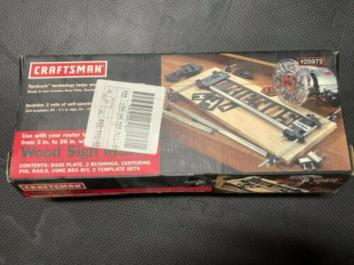 Craftsman Router Wood Sign Maker, Woodworking Tool 9 25972 Unused?