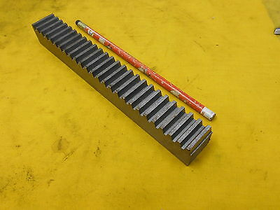 """BOSTON GEAR RACK L517-4 10 pitch 14 1/2 PA steel 1"""" x 1"""" x 8"""" OAL"""