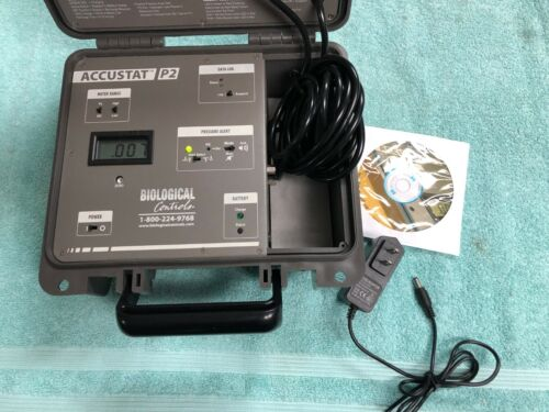 Biological Controls AccuStat P2 Differential Room Pressure Monitoring Data Log