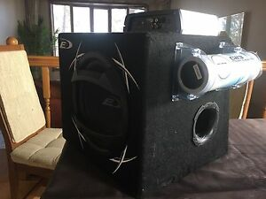 Subwoofer amp and capacitor setup