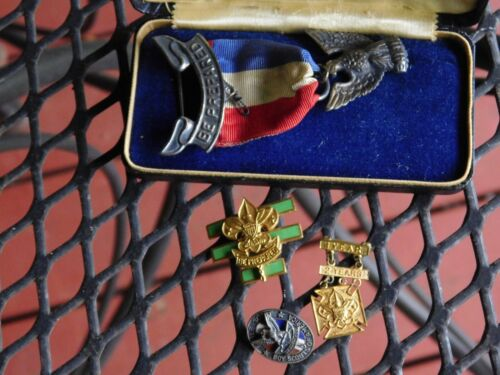 BSA Eagle Scout Award - ROBBINS 3  with EAGLE SCOUT Pin And Box +