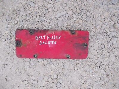 Farmall Ih 300 Tractor Belt Pulley Drive Delete Cover Plate For Transmission