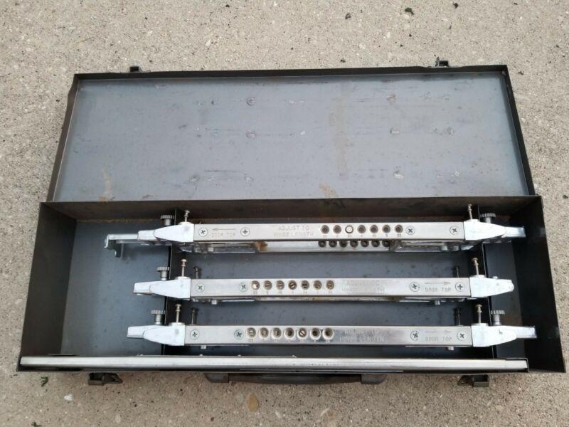 Stanley 83002 Model A Door and Jamb Butt Template Set in Metal Box